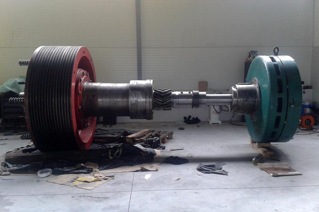 Remont sprzęgła hamulec prasy erfurt 1250 t